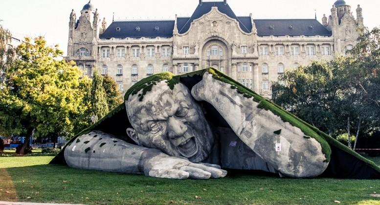 Sculpture en plein air à Budapest, automne 2014